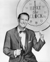 Bud Collyer Beat The Clock game show host 1958