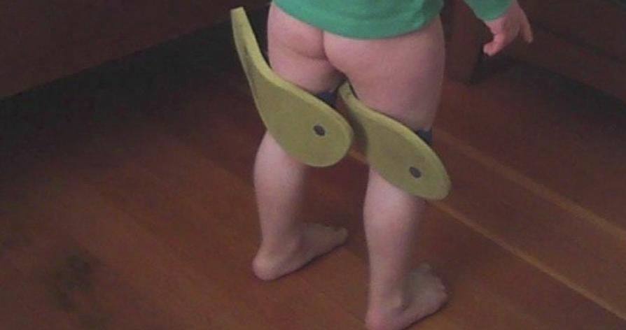 Mark Neuenschwander grandson wearing Flip Flops